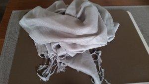 Sisley Bufanda de flecos color plata Poliéster