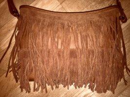 Pimkie Bolso de flecos coñac-marrón