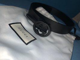 Gucci Cinturón de lona negro