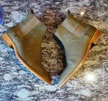 Fred de la bretoniere Chelsea laarzen groen-grijs Leer