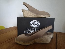 Fred de la Bretoniere Sandalen, beige, Gr 39, neuwertig!