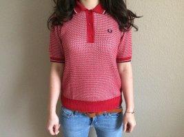 Fred Perry Koszulka polo ciemnoczerwony-w kolorze białej wełny