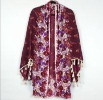 Free People Kimono rosso scuro-bordeaux
