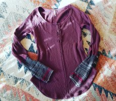Free People Pullover all'uncinetto viola