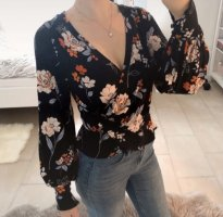 Free People Blusa cruzada multicolor