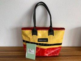 Freitag Borsa messenger giallo-rosso mattone