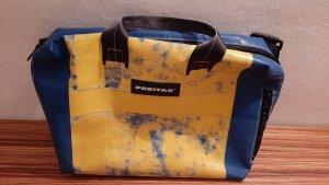 Freitag Torba z klapą żółty-stalowy niebieski