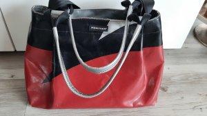 Freitag Messengerbag black-brick red