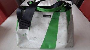 Freitag Torba z klapą biały-zielony