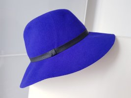 French Connection Woolen Hat blue violet-blue wool