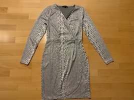 French Connection Stretch Dress silver-colored-light grey polyester