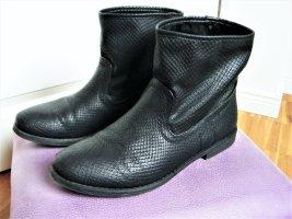 Fritzi aus Preußen Stiefelette Schlangenmuster Gr. 39 schwarz vegane Schuhe