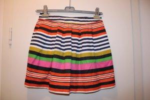 H&M Falda de talle alto multicolor tejido mezclado