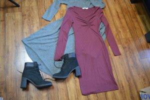 Front Ruched Ribbed Dress Nakd 38 neu