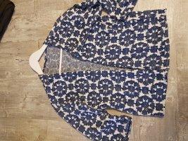 H&M Cárdigan de manga corta negro-azul