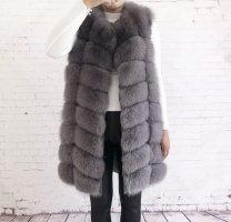 Fur vest grey-light grey pelt