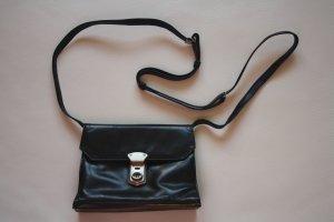 Funbag Leder Umhängetasche / Handtasche / schwarz-braun / Handtasche