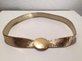 Funkelnder Vintage-Gürtel aus Leder mit Metallplättchen