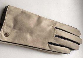 Furla Rękawiczki skórzane jasnobeżowy-jasnoszary Skóra