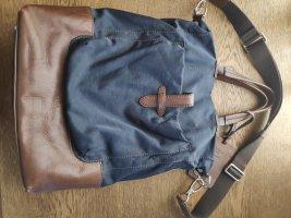 Furla Torebka materiałowa cognac-ciemnoniebieski