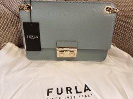 furla bella s Crossbody blau gold Umhängetasche tasche schultertasche
