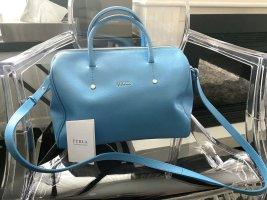 Furla Bowlingbag Handtasche Hellblau Leder, wie neu
