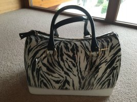 Furla Bowling Bag black-white synthetic material