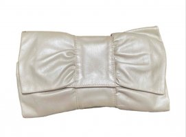 Furla Clutch natural white leather