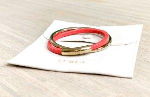 Furla Bangle salmon-gold-colored leather