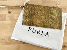 Furla envelope clutch gold snake
