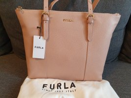 Furla Florence Moonstone Tasche Leder Rosa Gold shopper Handtasche ungetragen