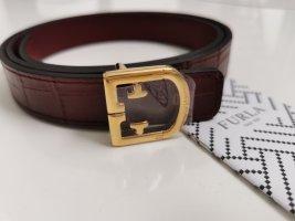 Furla Leather Belt bordeaux