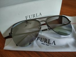 Furla Aviator Glasses anthracite-slate-gray metal