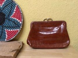 Furla Vintage Clutch/Tasche, 100% Leder, Made in Italy, Cognac