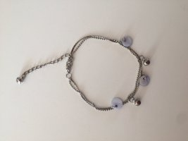 Anklet silver-colored-azure