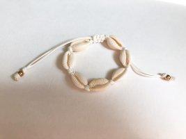 handmade Anklet cream-natural white