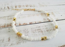 Anklet white-gold-colored