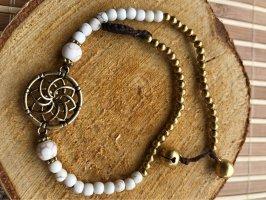 Fußkette Lotusblüte weiße Perlen