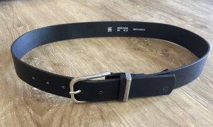 G-Star Raw Cintura di pelle nero-argento
