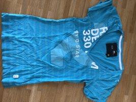Gstar V-Neck Shirt neon blue-azure