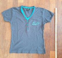 G-Star Koszulka z dekoltem w kształcie litery V stalowy niebieski