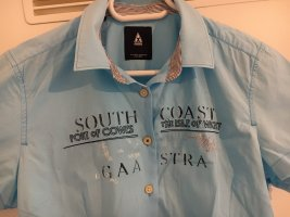 Gaastra Short Sleeved Blouse neon blue cotton