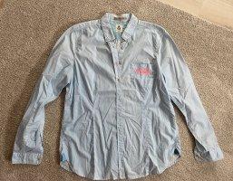 Gaastra Camisa de manga larga rosa neón-azul claro