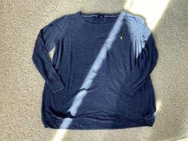 Gaastra Sport Strickpullover blau Glitzer Gr L