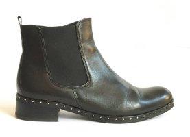 Gabor Ankle Boots mit Nietendekor Leder schwarz Gr. 6 ½ (= 40)