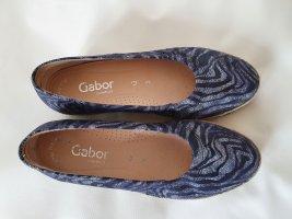 Gabor Bailerinas gris-negro Cuero