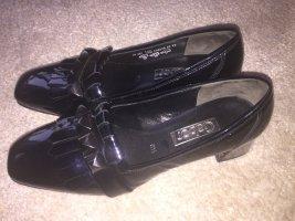 Gabor Richelieus Shoes dark blue leather