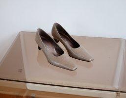 Gabor Escarpin à plateforme gris clair-beige clair cuir