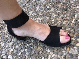 Gabor Nubukleder Sandalen mit Klettriemchen