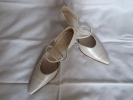 Gabor Strapped pumps white leather
